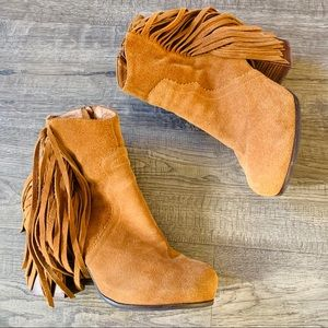 Jeffrey Campbell Prance Suede Tan Boots Size 9